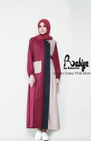 Jual Dress Muslimah Modern Rabiya dewihijab.com (41)