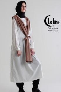 Jual Busana Muslim Wanita Salima Tunik Choco Dewihijab.com (1)